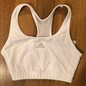 Adidas White Sports Bra S